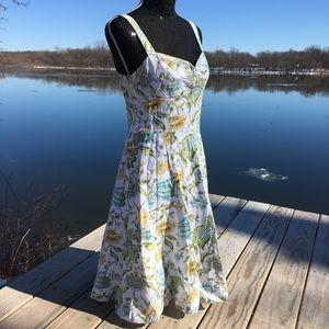 NWT LOFT Ann Taylor floral A line sleeveless dress